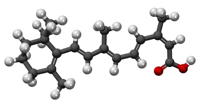 Estructura química de la isotretinoína